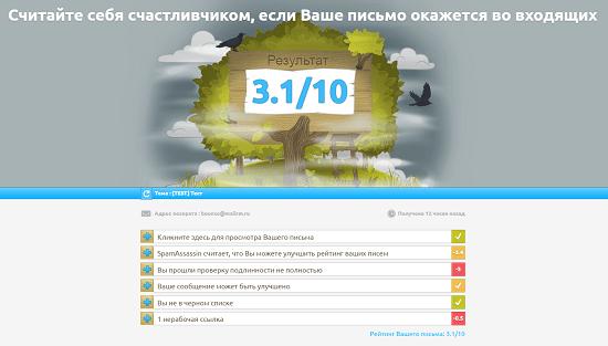 mail-tester.com - спам-тестирование